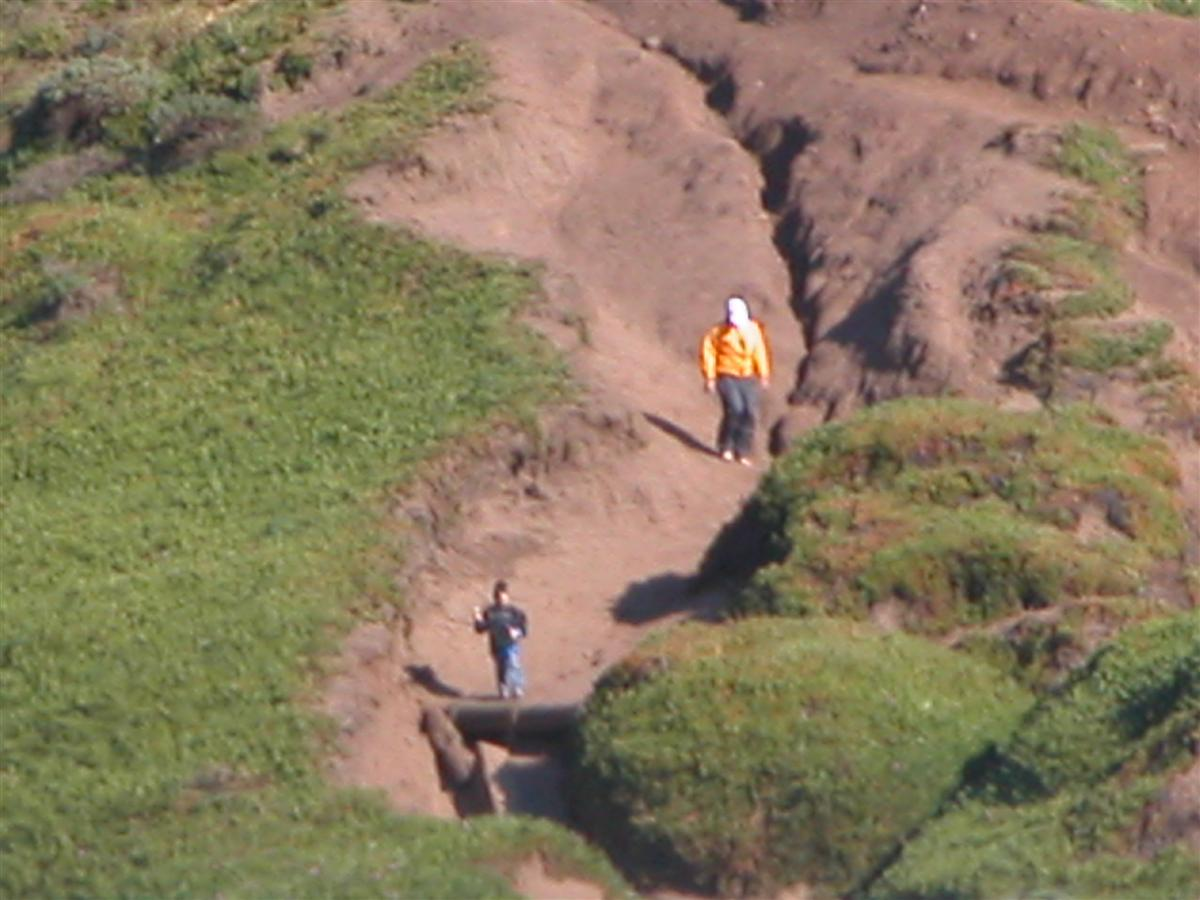 Dad and William doing some exploring at the Marin Headlands/Rodeo Beach area