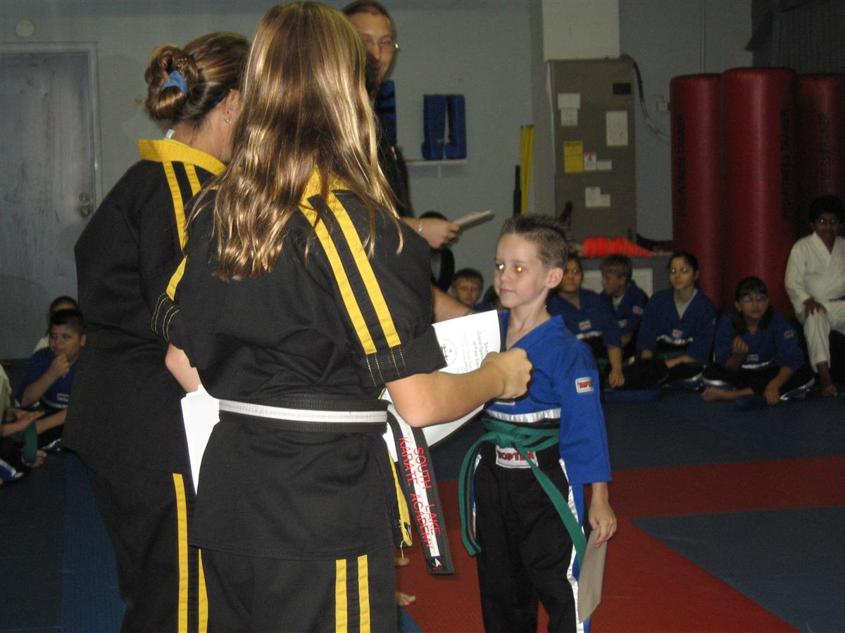 Brown Belt ceremony