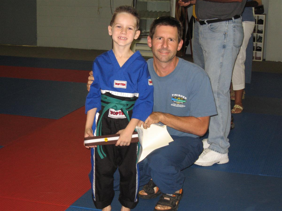 William earning Brown Belt