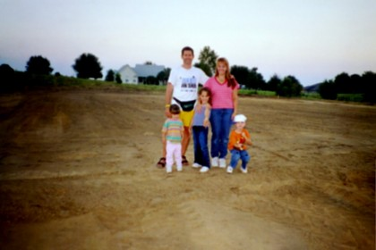 2002 Just bare dirt where our house will be