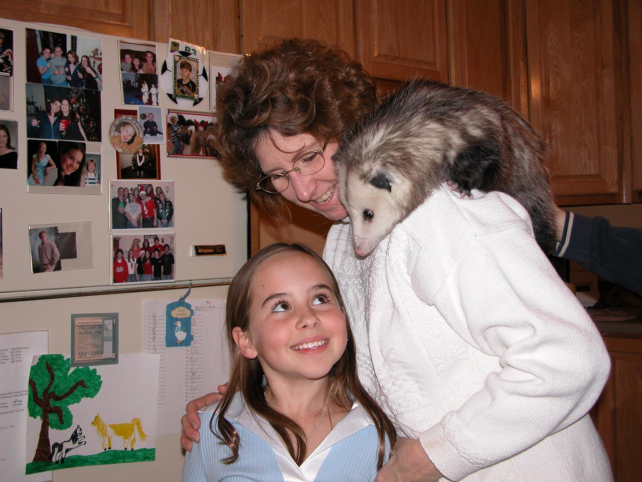 Fran and her pet Opossum